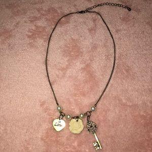 Aeropostale Pearl Bronze Necklace